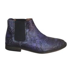 Bottines & low boots plates ANTHOLOGY PARIS Bleu, bleu marine, bleu turquoise