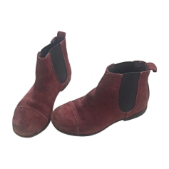 Ankle Boots BONPOINT Red, burgundy