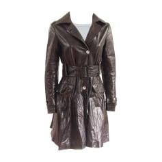 Leather Coat PHILIPP PLEIN Black