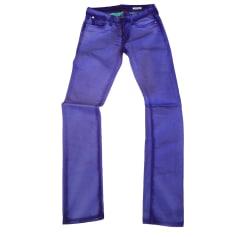 Jeans slim REPLAY Violet, mauve, lavande