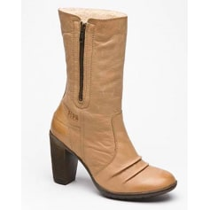 Bottines & low boots à talons PALLADIUM Beige, camel