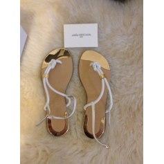 Sandales plates  ATELIER MERCADAL Blanc, blanc cassé, écru