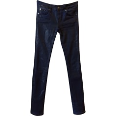 Jeans slim 7 FOR ALL MANKIND blu metallizzato