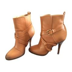 Bottines & low boots à talons RALPH LAUREN Beige, camel
