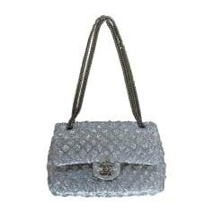 Non-Leather Handbag CHANEL Timeless Silver