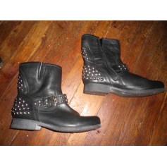Bottines & low boots motards BERTIE Noir