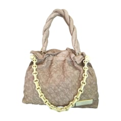 Leather Shoulder Bag LOUIS VUITTON Beige, camel