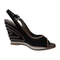 Sandales compensées BALDININI Noir