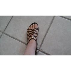 Sandales plates   GAIA D'ESTE Marron
