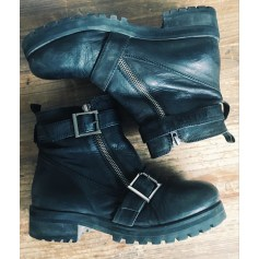 Bottines & low boots motards TOPSHOP Noir