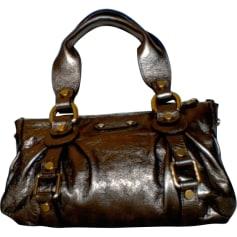 Sac à main en cuir ABACO Doré, bronze, cuivre