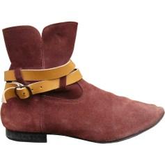Bottines & low boots plates ANNIEL Rouge, bordeaux