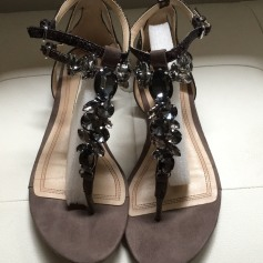 Sandales plates  ZARA Beige, camel