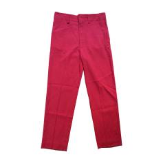 Pantalon slim, cigarette ISABEL MARANT ETOILE Rouge, bordeaux