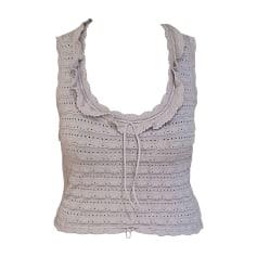 Top, tee-shirt ALAÏA Blanc, blanc cassé, écru