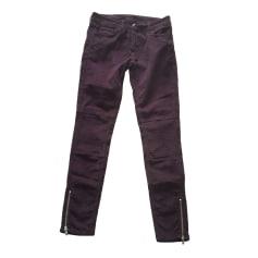 Jeans slim SANDRO Violet, mauve, lavande