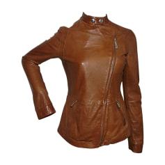 Leather Jacket JUST CAVALLI Beige, camel