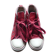 Sneakers BURBERRY Red, burgundy