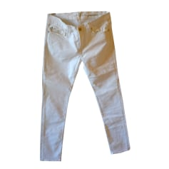 Jeans slim 7 FOR ALL MANKIND Blanc, blanc cassé, écru