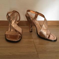 Sandali con tacchi MARC JACOBS Rosa