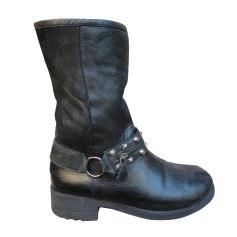 Bottines & low boots motards ANN TUIL Noir