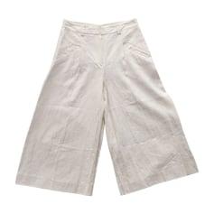 Pantalone largo ROBERTO CAVALLI Bianco, bianco sporco, ecru