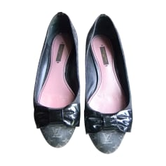 Ballet Flats LOUIS VUITTON Gray, charcoal