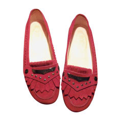 Ballet Flats TOD'S Red, burgundy