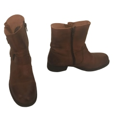 Santiags, bottines, low boots cowboy BERTIE Marron