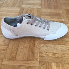 Lace Up Shoes TBS White, off-white, ecru