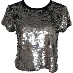 Top, T-shirt CLAUDIE PIERLOT Silver