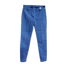 Pantalone slim, a sigaretta KENZO Blu, blu navy, turchese