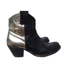 Cowboy Ankle Boots GOLDEN GOOSE Black