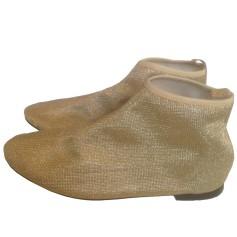 Bottines & low boots plates REPETTO Doré, bronze, cuivre