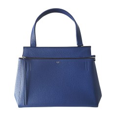 Leather Handbag CÉLINE Edge Indigo