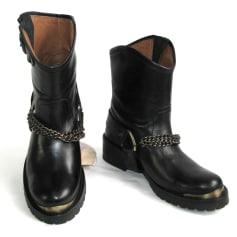Bottines & low boots plates PASTELLE cuir noir 39 3o6jn