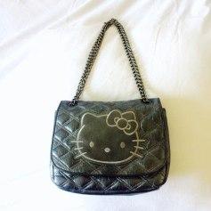 Sac en bandoulière en cuir HELLO KITTY BY VICTORIA COUTURE Gris métalisé