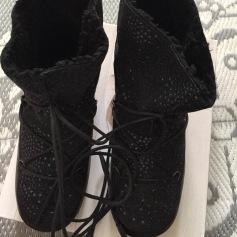Bottines & low boots plates ANNIEL Noir