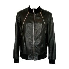 Leather Zipped Jacket GIVENCHY Black