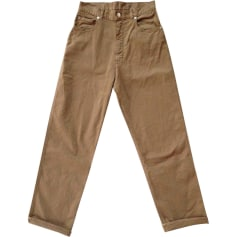 Wide Leg Pants GOLDEN GOOSE Beige, camel
