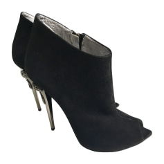 Bottines & low boots à talons GERARDINA DI MAGGIO Noir