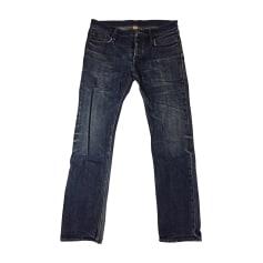 Jeans droit BURBERRY Bleu, bleu marine, bleu turquoise