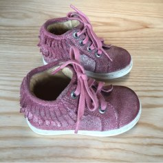 Lace Up Shoes DU PAREIL AU MÊME DPAM Pink, fuchsia, light pink