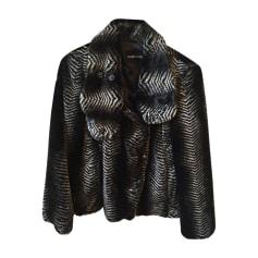 Manteau en fourrure EMPORIO ARMANI Noir