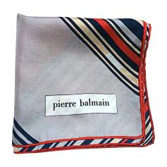 Silk Scarf PIERRE BALMAIN Red, burgundy