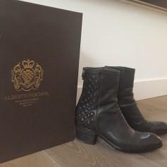 Santiags, bottines, low boots cowboy ALBERTO FASCIANI Noir