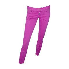 Jeans slim DSQUARED2 Rose, fuschia, vieux rose