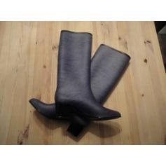 Bottines & low boots à compensés ARMANI grise et noir