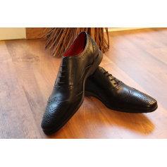 Chaussures à lacets PASCAL MORABITO cuir noir 40 Xc015fB