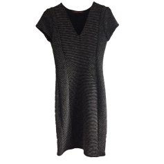 Midi Dress COMPTOIR DES COTONNIERS Rayures noire et gris